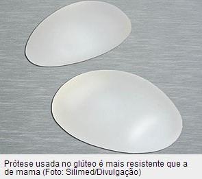 Prótese de silicone para o glúteo