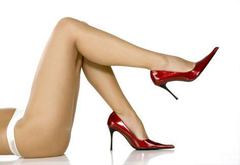 Salto alto valoriza o aspecto das pernas