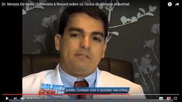 Entrevista para a TV Record, sobre os riscos do silicone industrial cirurgia plastica