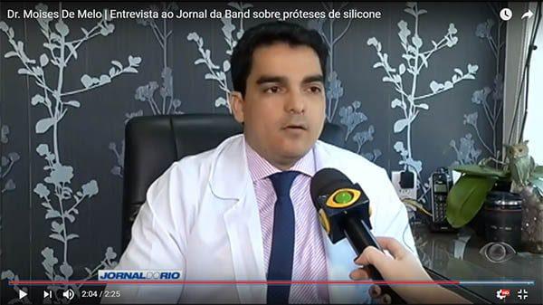 Entrevista para jornal da Band sobre cirurgia plástica prótese de silicone