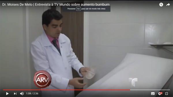 Entrevista para tv cirurgia plastica protese de silicone gluteos