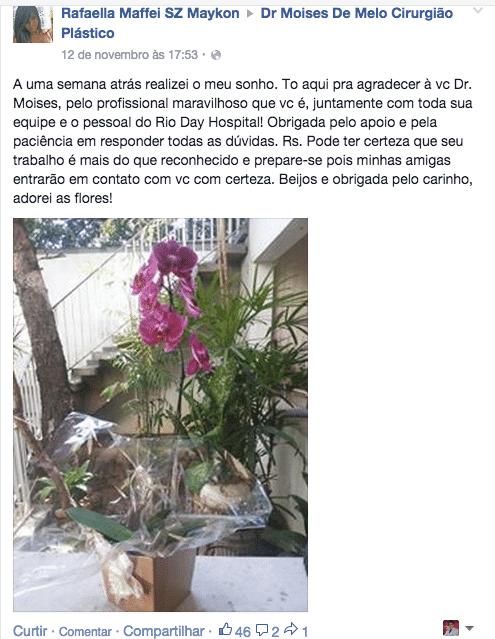 Depoimento sobre cirurgia plástica - Rafaella Maffei