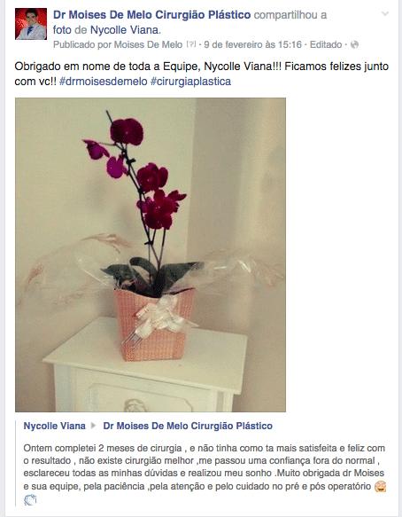 Depoimento sobre cirurgia plástica – Nycolle Viana