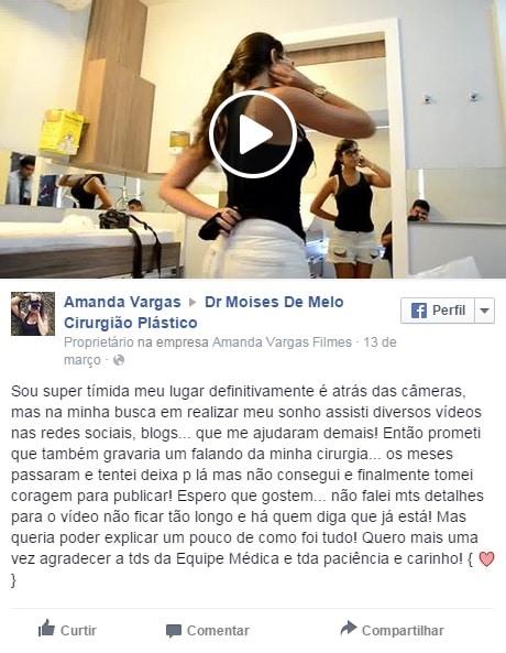 Depoimento sobre cirurgia plastica – Amanda Vargas