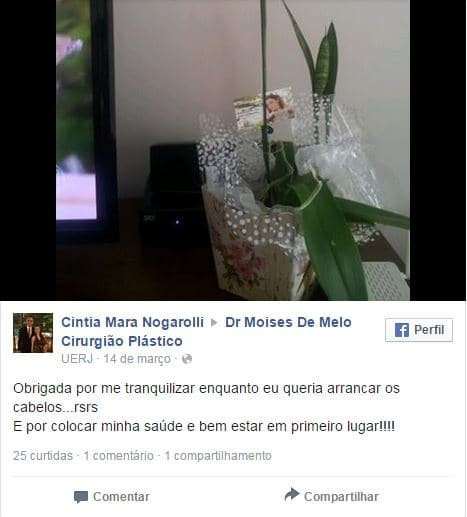 Depoimento sobre cirurgia plastica – Cintia Nogarolli
