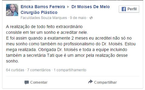 Depoimento sobre cirurgia plastica – Ericka Barros