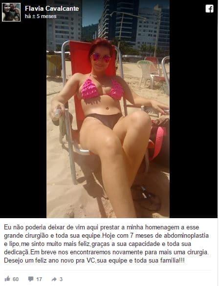 Flavia Cavalcante depoimento cirurgia plastica