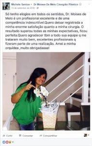 Depoimento sobre cirurgia plástica por Michele Santos