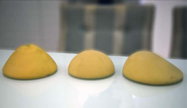 Modelos de protese para mastopexia Próteses de silicone revestida de poliuretano cônica, redonda e em gota
