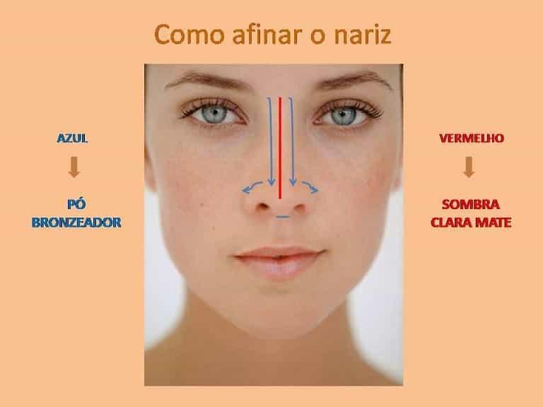 Rinoplastia dicas de maquiagem para afinar o nariz