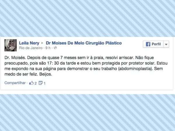 Depoimento sobre cirurgia plástica – Leila Nery